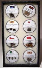 8-piece Meteorite Collector Set Nantan Campo del Cielo Diablo Canyon Russia 177g
