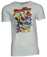 Men's T-shirt Disney Team Duck Tales Cast Group Shot Graphic White Tee NEW