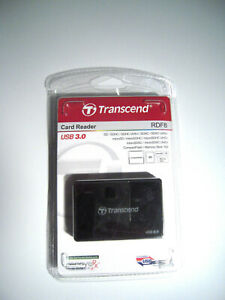 Transcend Multi-Card Reader USB 3.0 for Micro SD, SDHC, SDXC,CF New Open Box-M91