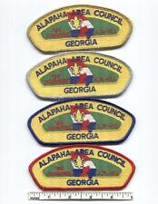 1989 BSA National Jamboree JSP Set - (4) Alapaha Area Council