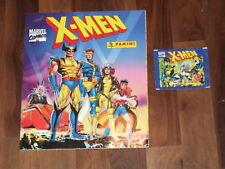 X-Men 1994 Complete Panini Marvel Comics Sticker Album with Panini packet too