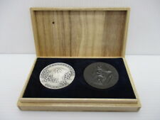 1964 TOKYO OLYMPIC GAMES GORGEOUS RARE MEDAL SET in WOOD BOX