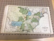 1820s Modern Atlas w 8 maps for Worcester's Geography Cummings & Hilliard WOW