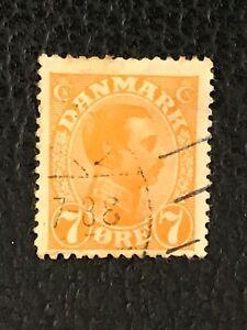 Briefmarken Dänemark König Christian X gestempelt 1918 Michel 97