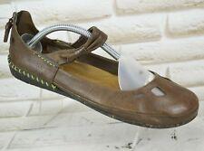 MERRELL Espresso Womens Leather Summer Walking Shoes Sandals Size 7 UK 40.5 EU