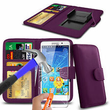 For UMI London - Clip On PU Leather Book Wallet Case & Glass