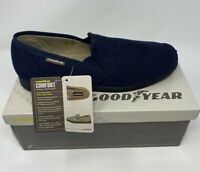 Navy Goodyear Official License Pendle Mens Comfort Memory Foam Slippers Warm