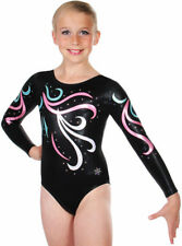 NEW!! Child Medium Black Celebrity Gymnastics Comp Leotard by Snowflake Designs