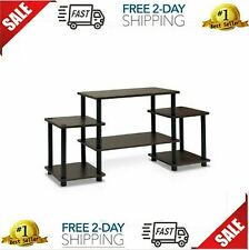 No Tools Entertainment TV Stands Dark Brown Black 41.5Wx11.6Dx22.85H Inches New