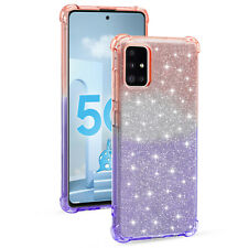 For Samsung Galaxy A51 A71 A21 Women/Girl Bling Soft Gradient Back Case Cover