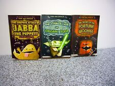 Lot of 3 Tom Angleberger Origami YODA Books JABBA Fortune WOOKIE