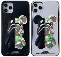 Bape Shark BearBrick Camo A BATHING APE Phone Cover Case For iPhone 11 Pro SE