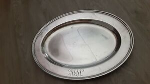 Gorham Silver Platter 12in Tray Oval serving