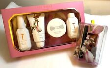Ted Baker women body wash spray soufflé lip balm & nail tips pink gift Set of 2