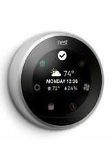 Nest T3008Us   Silver 3rd Generation Learning Thermostat / Silver