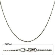 "4.80 gm 14k White Gold Diamond Cut Rope Women's / Men's Chain Necklace 30"" 1 mm"