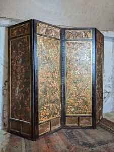 Antique Embossed Gilded Room Screen