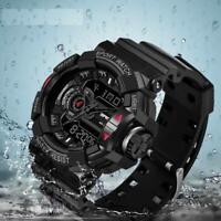 Mens Watch Luxury Waterproof Sports Quartz Shock Resistant Calendar Wrist Buckle
