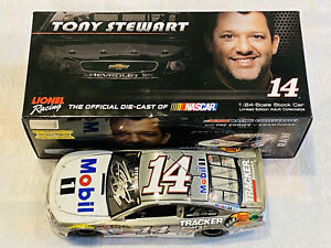 TONY STEWART HAND SIGNED 2014 MOBIL1 RAW FINISH NASCAR 1/24 DIECAST CAR!!!!