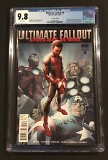 ULTIMATE FALLOUT 4 CGC 9.8 WHITE Pages 2nd Print Variant 1st App. Miles Morales!