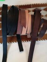 Lederriemen Schwertgürtel Fettleder Gürtelriemen 90-300 x 2 cm braun schwarz nat