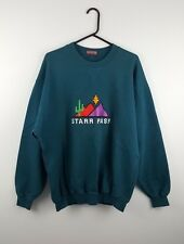 VTG RETRO MENS GREEN USA ATHLETIC SPORTS OVERHEAD SWEATSHIRT JUMPER VGC UK XL