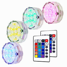 4pack Submersible Light Water-resistant LED RGB Vase Lamp Remote Floral Decor US