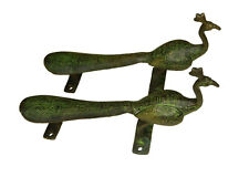 Unique Peacock Design Vintage Antique Style Brass Handmade Door Pull Handle Knob