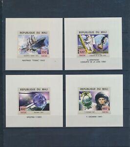 XC89941 Mali imperf Titanic & astronaut rocket sheets XXL MNH