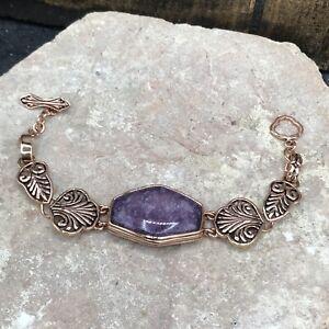Barse Brasilia Toggle Bracelet- Lepedolite & Copper- NWT
