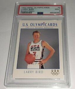 1992 Impel Olympicards #9 Larry Bird PSA 9 Mint Dream Team USA Pop 25