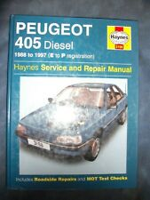 haynes workshop manual Peugeot 405 diesel 88-97 Gtdt Glxd saloon and Estate 3198