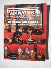 """1 Catalogue de vente aux enchères US Auktionshaus Manion´s """" Allemand Militaria"""