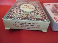 jeu de cartes a jouer GRIMAUD les rois de france
