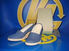 Zapatos Femeninos vintage Azul TEJANO talla 34 tacon 22 cm nuevo