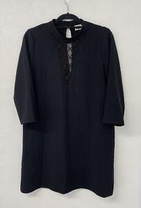 Twist & Tango Black Lace V Neck Shift Dress 10