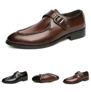 British Mens Dress Formal Leather Shoes Work Business Buckle Pointy Toe Party Sz