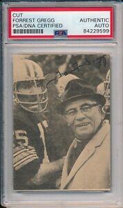 Forrest Gregg Green Bay Packers HOF 1977 Signed Cut Photo Card ~ PSA/DNA Slab