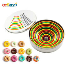 12Pcs/set Donuts Mousse Cake Baking Mold Stainless Steel Ring Round Bake Mould