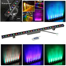 "38.9"" Wall Washer LED Linear Bar Light with Remote Aluminum Case RGB Backlightin"