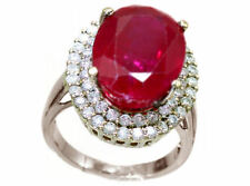 Cluster Ruby White Gold Fine Rings