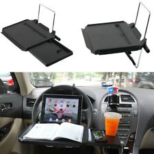 Car Back Seat Tray Laptop Desk Fold Shelf Support Steer Wheel Drawer Cup Holder