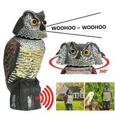 Large Fake Owl Decoy Hunting Deterrent Bird Pigeon Cat Crow Scarer Repeller UK