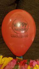10 bunt-transparente Happy Birthday McDonalds Werbeluftballons Luftballon Looner