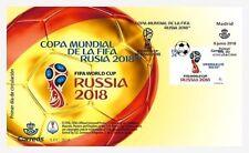 SOBRE PRIMER DÍA  DE CIRCULACIÓN  ESPAÑA 2018 - COPA MUNDIAL DE FÚTBOL RUSIA