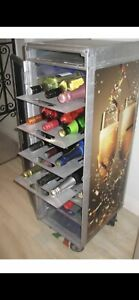Airline Cart Trolley Wine Bottle Shelf Drawer Tray Rack Metal Custom Made