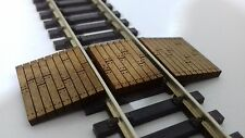 Laser Cut OO Gauge Railway Track Foot or Barrow Crossing Pack of 5 Crossings