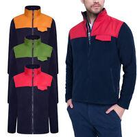Designer New Mens Fleece Jacket Full Zip Up Outdoor Warm Polar Anti Pil WorkWear