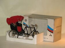 Miniature 3 Wheel Rickshaw Pedicab  1:10 scale Metal Diecast Bike Collectible