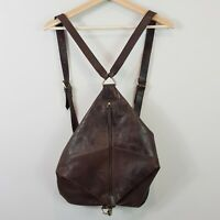[ RUGGED HIDE ] Womens Brown Leather Backpack Bag / Handbag
